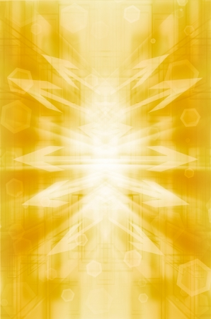 Abstract yellow with arrow technology background