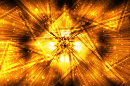 abstract dark golden tech background  photo