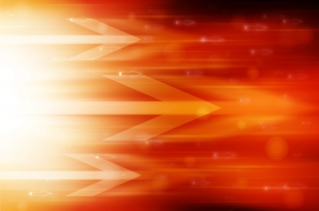 Abstract orange technology background.