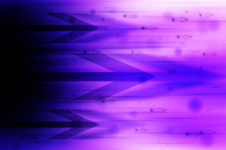 abstract arrow in purple background photo