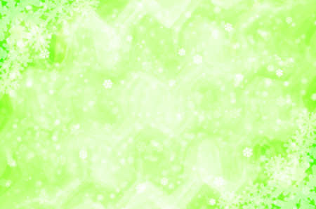 Christmas  background with green snowflakes. photo