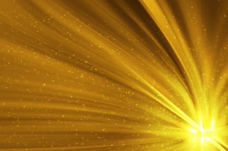 golden star abstract background Stock Photo - 16312414