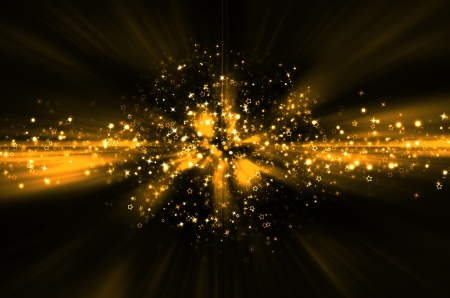 burst background: abstract golden star background