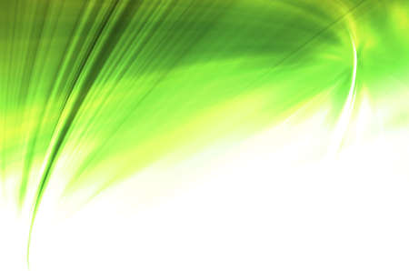 greenness: green curves abstract background Stock Photo