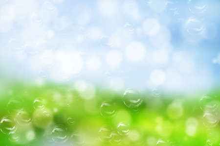 abstract nature with bubble background. photo