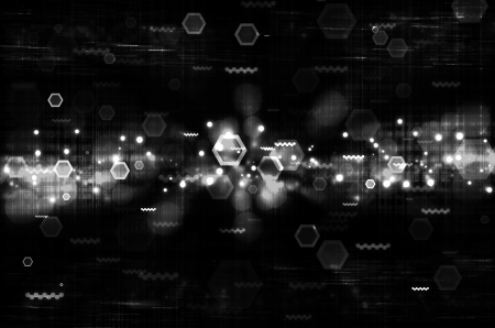 abstract white tech with black background Stock Photo - 17009479