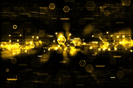 abstract yellow tech with black background