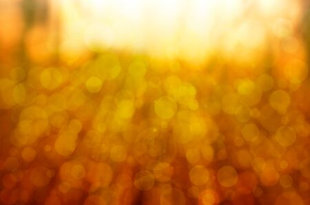 abstract yellow bokeh background with lens flare photo