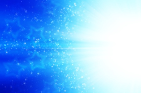 abstract blue stars background Stock Photo