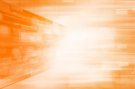 Abstract orange technology background.  photo