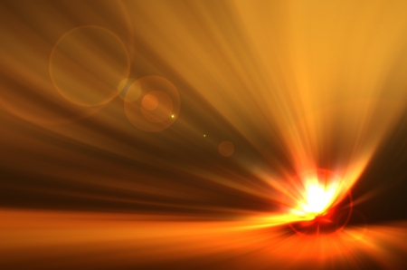 Background texture with warm sun and lens flare  Stock Photo