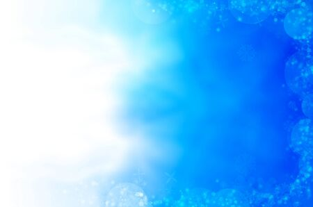 abstract blue background of christmas light photo