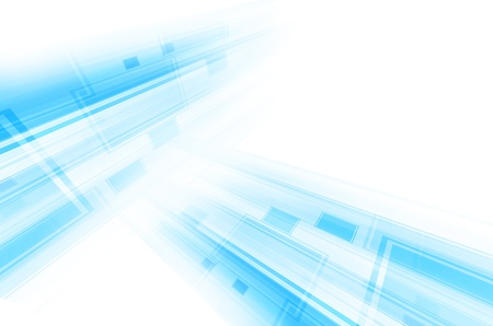 abstract blue tech lines on white background