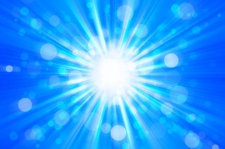 blue bokeh light background photo