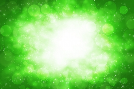 Abstract circular bokeh with green background. Stock Photo