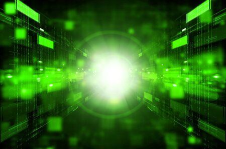 abstract dark green technology background