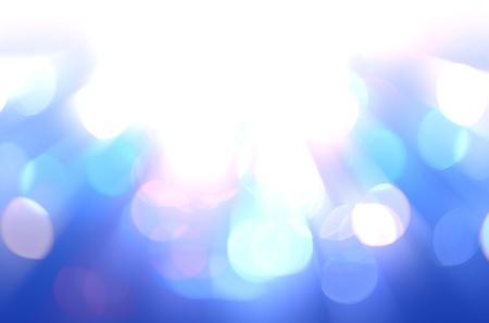 defocused with blue light background
