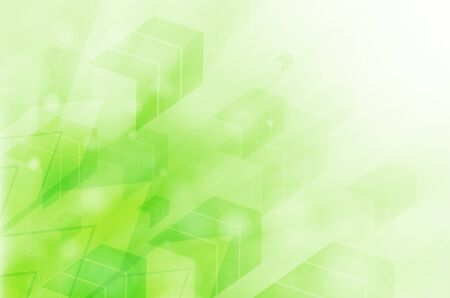 green abstract technology background. photo