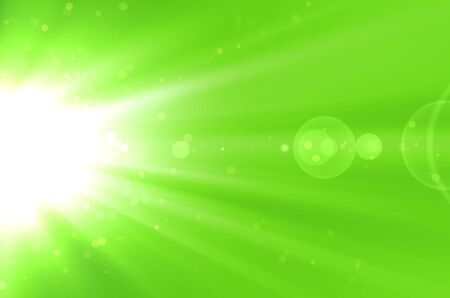 abstract green background with lens flare photo