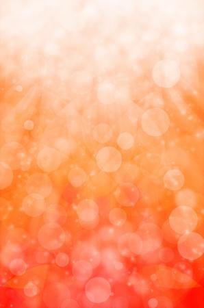abstract light bokeh on orange background.  Stock Photo