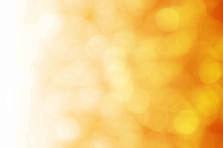 light bokeh on yellow background photo