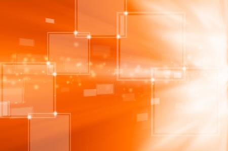 abstract orange technology background  Stock Photo