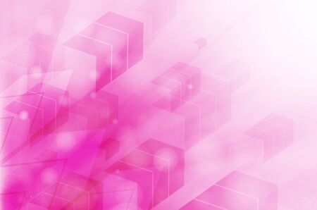 pink abstract technology background. Stock Photo