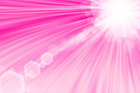 pink background with circles and lens flare. photo