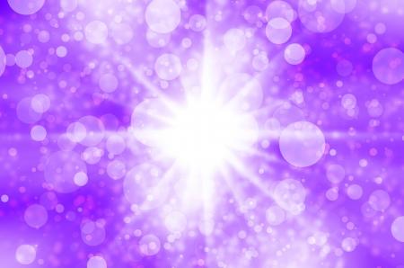 Abstract star light on purple background. Stock Photo - 17418241