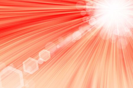red background with circles and lens flare. photo