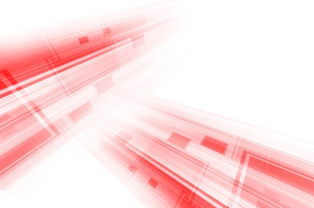 abstract red tech lines on white background Stock Photo - 17418289