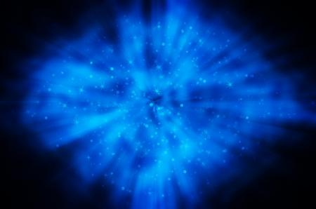 star light on blue background Stock Photo - 17418286