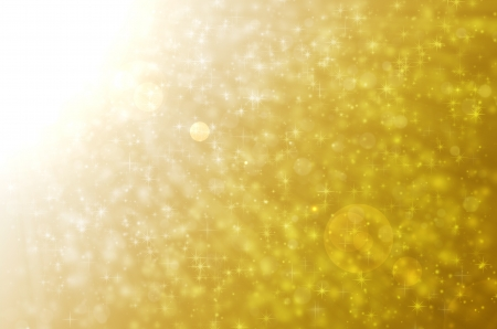 Stars light on golden backgrounds. Stock Photo - 17418305