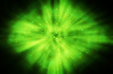star light on green background Stock Photo - 17418303