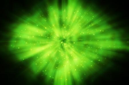 star light on green background Stock Photo - 17418303