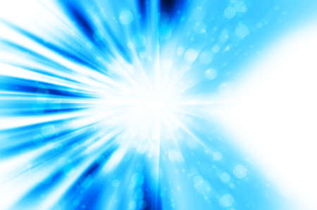 Abstract star light with blue background Stock Photo - 17418366