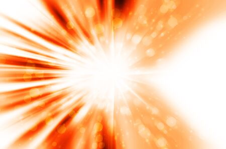 Abstract star light with orange background Stock Photo - 17418365