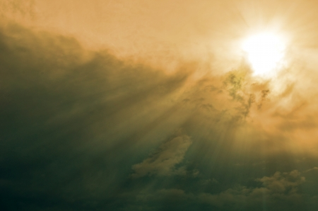Sunset / sunrise with clouds, light and rays. Stock Photo - 17418358