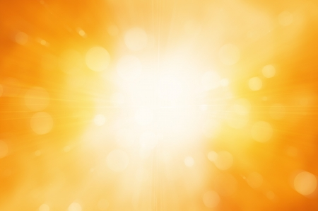 warm sun and circles background Stock Photo