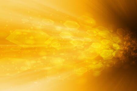 yellow tech background Stock Photo - 17450758