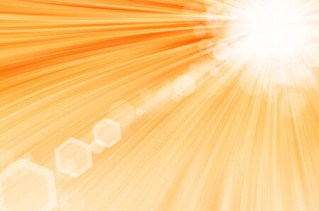Yellow background with circles and lens flare. Stock Photo - 17450773