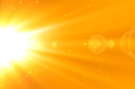 abstract yellow background with lens flare photo