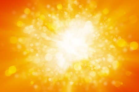 orange sky: yellow bokeh abstract light background  Stock Photo