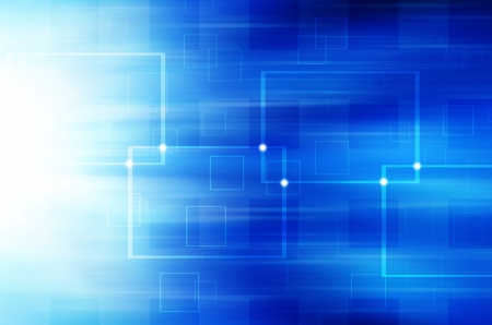 Abstract blue technology background. Stock Photo - 18197142