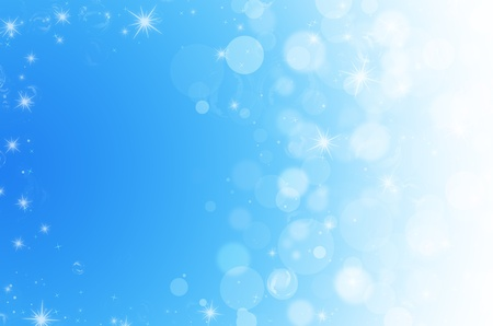 abstract bokeh on blue background photo