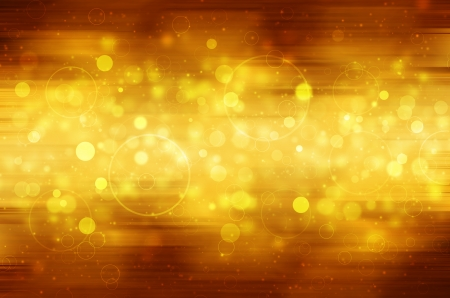 Abstract circular bokeh on golden background.