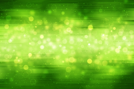 Abstract circular bokeh on green background.  Stock Photo