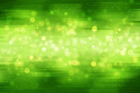 Abstract circular bokeh on green background.  Stock Photo