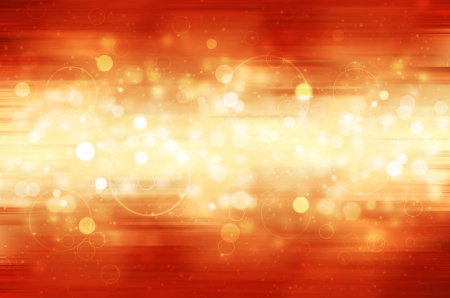 Abstract circular bokeh on red background.  Stock Photo