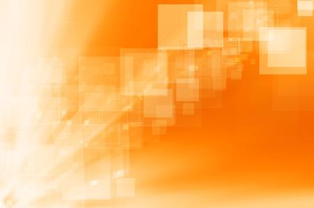 futurist: abstract orange technology background Stock Photo
